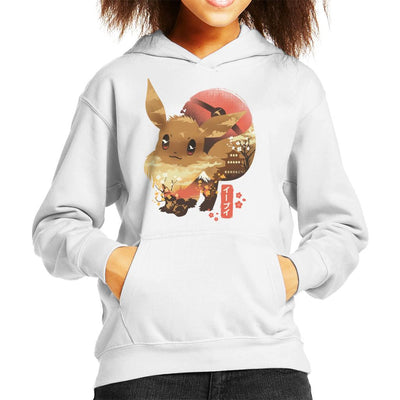 Ukiyo Eevee Pokeball Mountain Montage Kid's Hooded Sweatshirt by dandingeroz - Cloud City 7