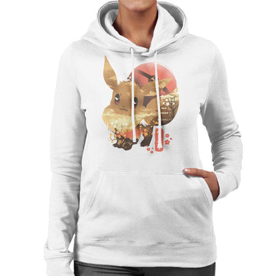 Ukiyo Eevee Pokeball Mountain Montage Women's Hooded Sweatshirt by dandingeroz - Cloud City 7