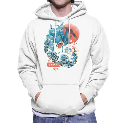 Ukiyo Gyarados Pokeball Sea Montage Men's Hooded Sweatshirt by dandingeroz - Cloud City 7