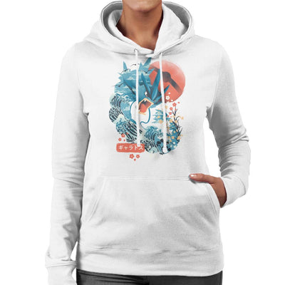 Ukiyo Gyarados Pokeball Sea Montage Women's Hooded Sweatshirt by dandingeroz - Cloud City 7