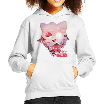 Ukiyo Jigglypuff Pokeball Flower Montage Kid's Hooded Sweatshirt by dandingeroz - Cloud City 7