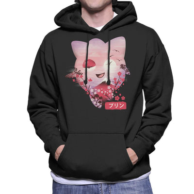 Ukiyo Jigglypuff Pokeball Flower Montage Men's Hooded Sweatshirt by dandingeroz - Cloud City 7
