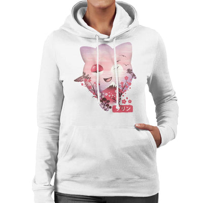 Ukiyo Jigglypuff Pokeball Flower Montage Women's Hooded Sweatshirt by dandingeroz - Cloud City 7
