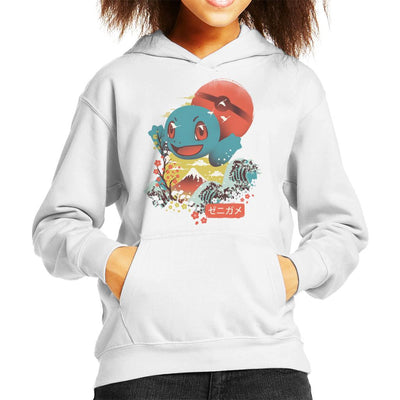 Ukiyo Squirtle Pokeball Wave Montage Kid's Hooded Sweatshirt by dandingeroz - Cloud City 7