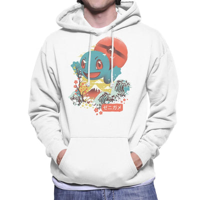 Ukiyo Squirtle Pokeball Wave Montage Men's Hooded Sweatshirt by dandingeroz - Cloud City 7