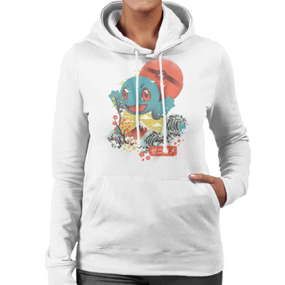 Ukiyo Squirtle Pokeball Wave Montage Women's Hooded Sweatshirt by dandingeroz - Cloud City 7