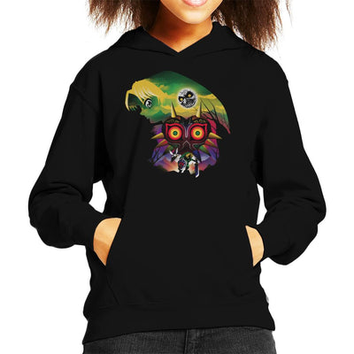 Legend Of Zelda Majoras Mask Montage Kid's Hooded Sweatshirt by dandingeroz - Cloud City 7