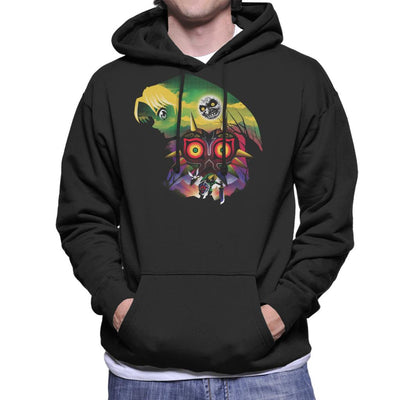 Legend Of Zelda Majoras Mask Montage Men's Hooded Sweatshirt by dandingeroz - Cloud City 7