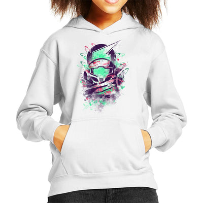 Water Colour Bounty Hunter Metroid Kid's Hooded Sweatshirt by Donnie - Cloud City 7