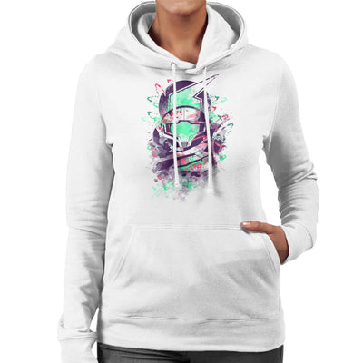 Water Colour Bounty Hunter Metroid Women's Hooded Sweatshirt by Donnie - Cloud City 7