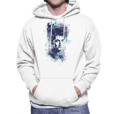 Water Colour Doctor Who David Tennant Men's Hooded Sweatshirt by Donnie - Cloud City 7