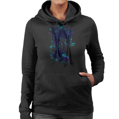 Water Colour Doctor Who David Tennant Women's Hooded Sweatshirt by Donnie - Cloud City 7