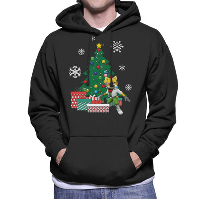 Fox McCloud Around The Christmas Tree Men's Hooded Sweatshirt by Nova5 - Cloud City 7