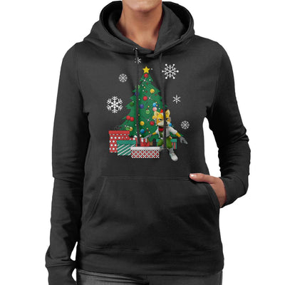 Fox McCloud Around The Christmas Tree Women's Hooded Sweatshirt by Nova5 - Cloud City 7