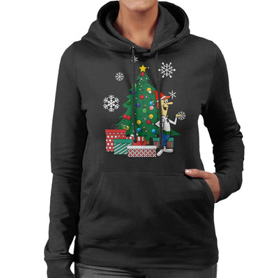 George Jetson Around The Christmas Tree Women's Hooded Sweatshirt by Nova5 - Cloud City 7