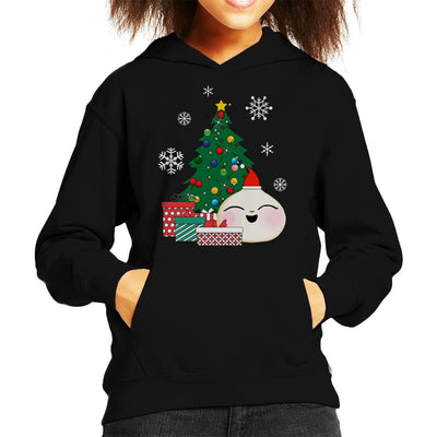 Happy Bao Bun Around The Christmas Tree Kid's Hooded Sweatshirt by Nova5 - Cloud City 7
