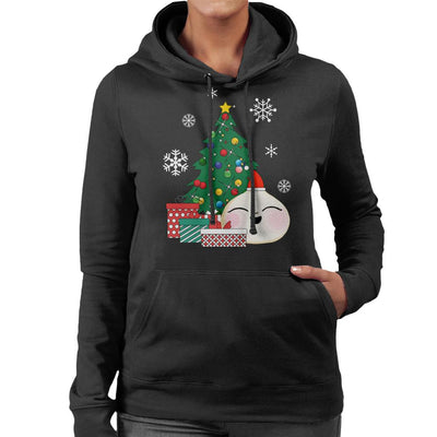 Happy Bao Bun Around The Christmas Tree Women's Hooded Sweatshirt by Nova5 - Cloud City 7