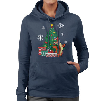 I Am Weasel Around The Christmas Tree Women's Hooded Sweatshirt by Nova5 - Cloud City 7
