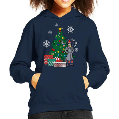 Inspector Gadget Around The Christmas Tree Kid's Hooded Sweatshirt by Nova5 - Cloud City 7