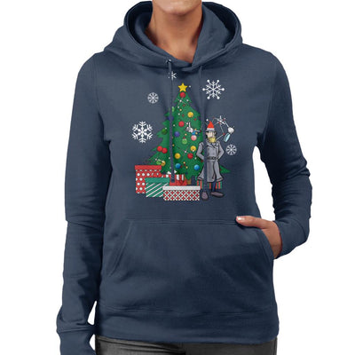 Inspector Gadget Around The Christmas Tree Women's Hooded Sweatshirt by Nova5 - Cloud City 7