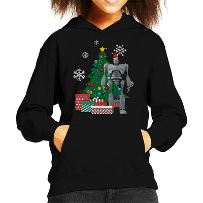Iron Giant Around The Christmas Tree Kid's Hooded Sweatshirt by Nova5 - Cloud City 7
