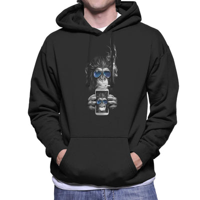 Cheeky Chimp Selfie Men's Hooded Sweatshirt by Artizan - Cloud City 7