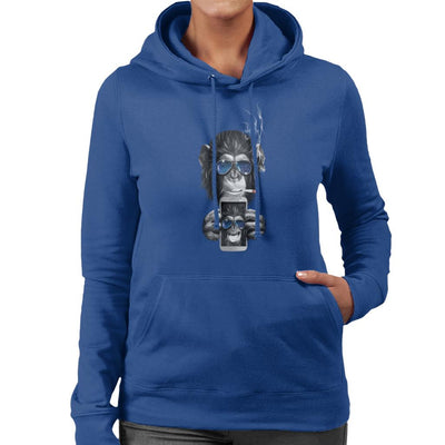 Cheeky Chimp Selfie Women's Hooded Sweatshirt by Artizan - Cloud City 7