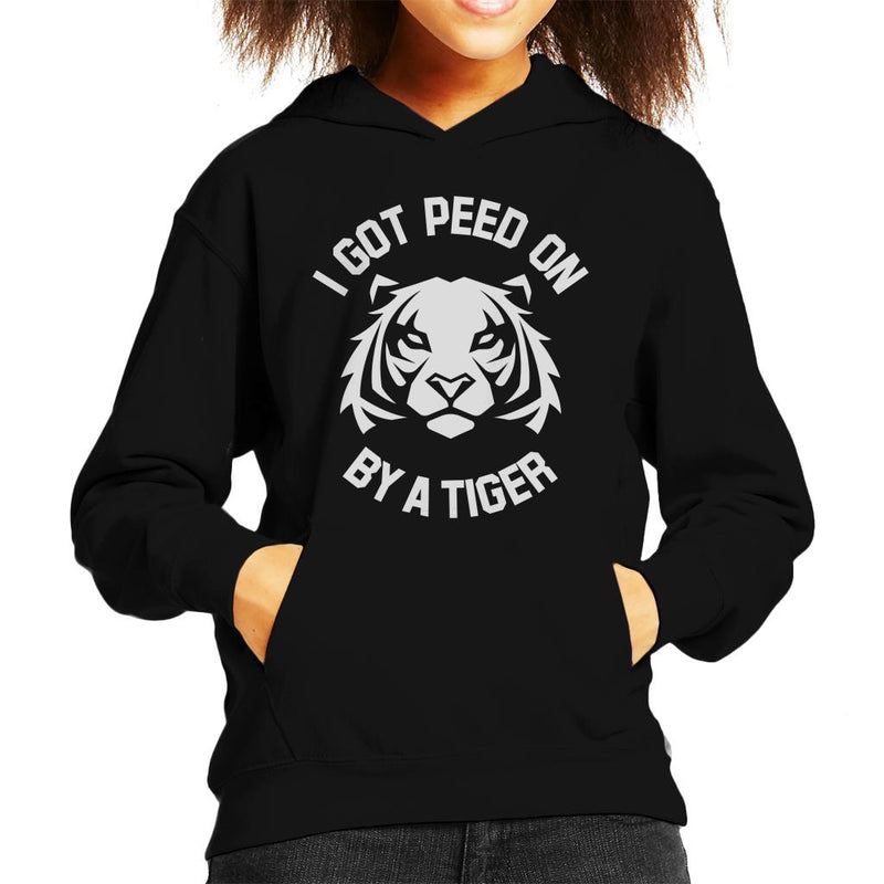 I Got Peed On By A Tiger Joe Exotic Kid's Hooded Sweatshirt by Pheasant Omelette - Cloud City 7