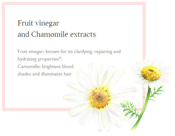 Fruit vinegar and Chamomile extracts