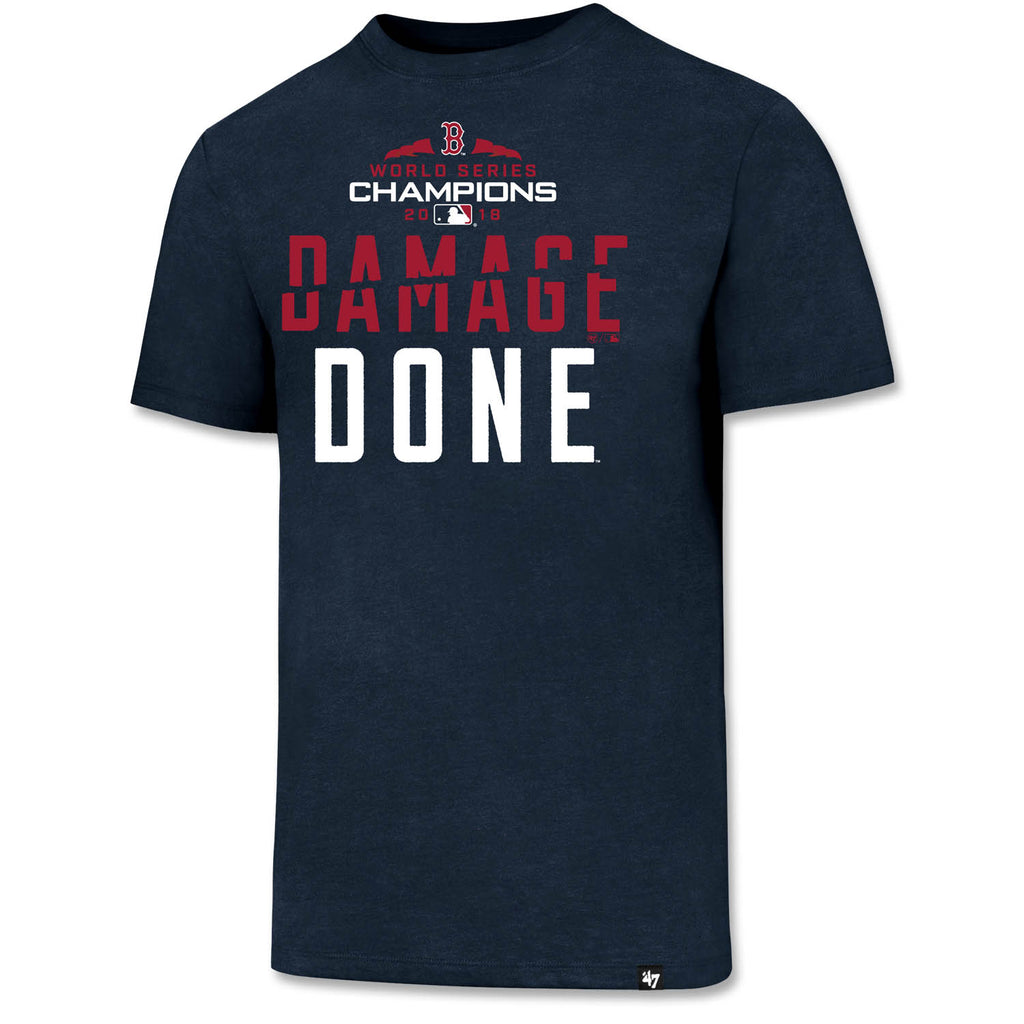 4476e3fcafe Boston Red Sox 2018 World Series Champs Damage Done T-Shirt - Navy ...