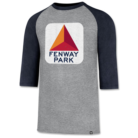 Boston Red Sox Fenway Park Citgo Ash/Navy 3/4 Sleeve Shirt