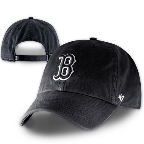 Boston Red Sox Clean-Up Black Adjustable Hat