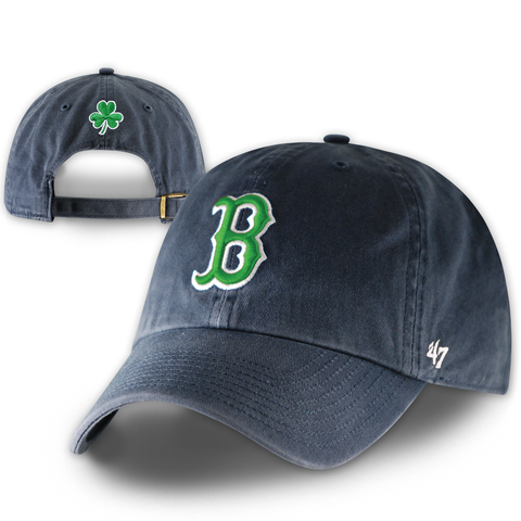 Boston Red Sox Clean-Up Navy St. Pat's Adjustable Hat