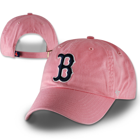 Boston Red Sox Kids Rose Pink Clean Up Adjustable Hat