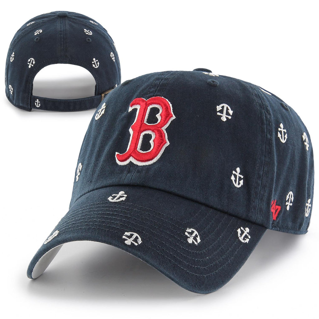 c712055f Boston Red Sox Womens Clean-Up Anchor Parade Navy Adjustable Hat ...