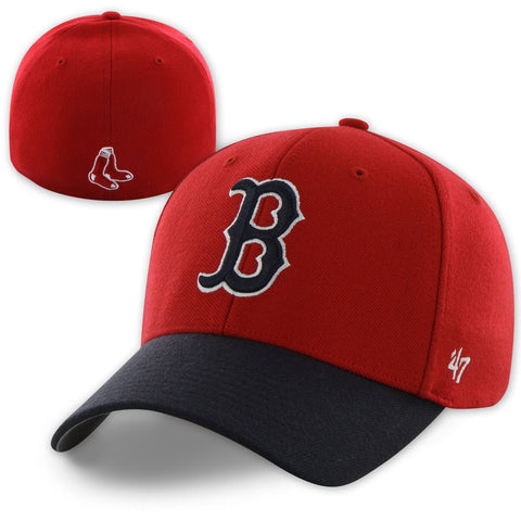 Boston Red Sox Stretch Fitted Red/Navy 1975 Hat