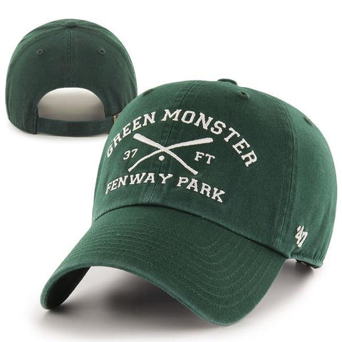 Clean-Up Fenway Park Green Monster Crossed Bats Adjustable Hat