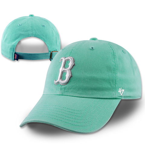 Boston Red Sox Womens Clean-Up Tiffany Blue Adjustable Hat