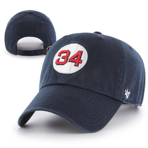 Boston Red Sox #34 Dark Navy Clean Up Adjustable Hat