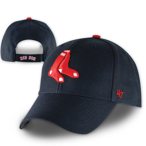 Boston Red Sox Navy 2 Sox MVP Adjustable Hat