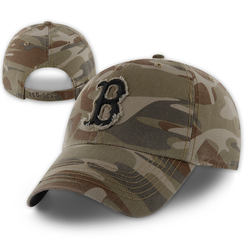 Boston Red Sox Clean-Up Tarpoon Camo Adjustable Hat