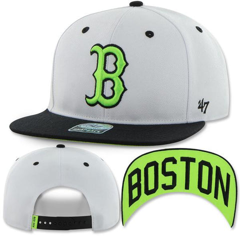 Boston Red Sox Snapback Skyway Neon Green Adjustable Hat