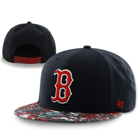 Boston Red Sox Snapback Navy Grassy Ridge Adjustable Hat