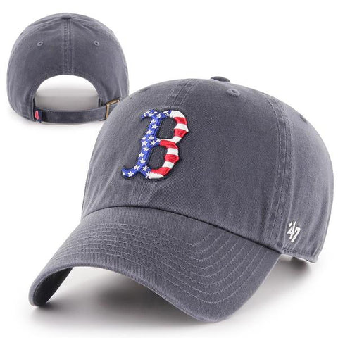 Boston Red Sox Clean-Up Navy Star Spangled 'B' Adjustable Cap