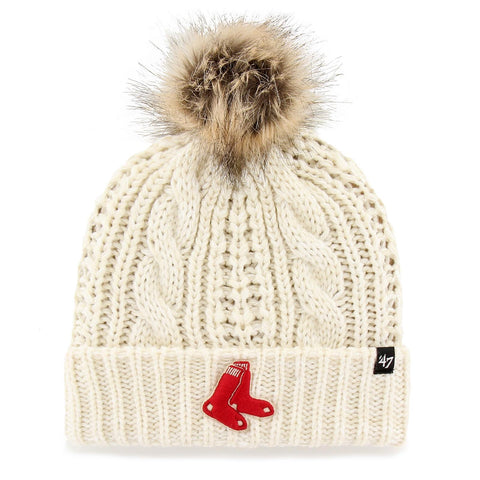 Boston Red Sox Ladies White Meeko Knit Hat