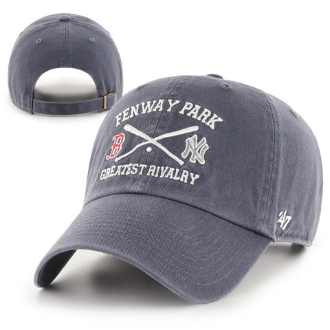 Boston Red Sox  vs Yankees Rivalry Clean-Up Navy Crossed Bats Adjustable Hat