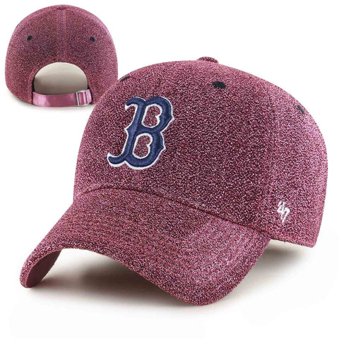 Boston Red Sox Womens Clean-Up Encore Rose Adjustable Cap
