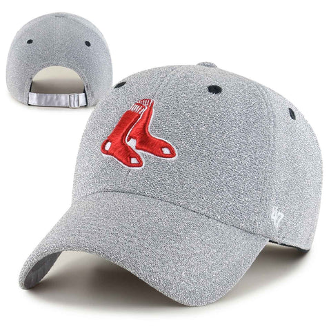 Boston Red Sox Womens Clean-Up Encore Silver Adjustable Cap