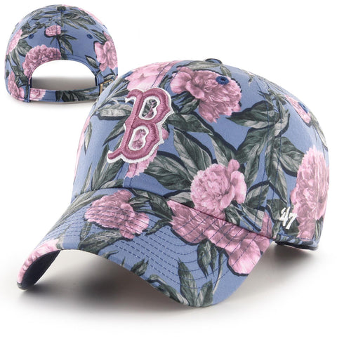 Boston Red Sox Womens Clean-Up Peony Blue Adjustable Cap