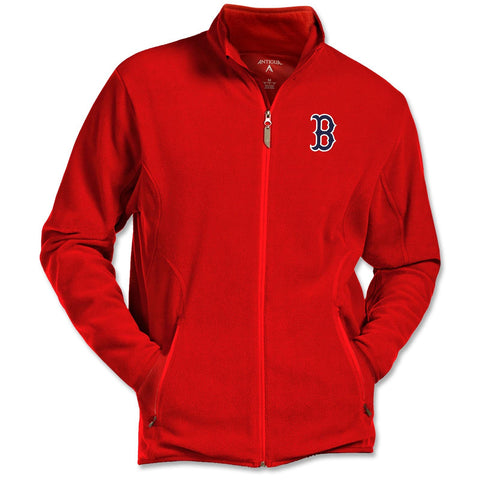 Boston Red Sox Antigua Red Ice Full Zip Fleece